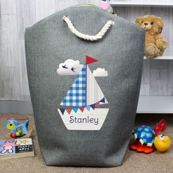Personalised SAILBOAT LAUNDRY BAG