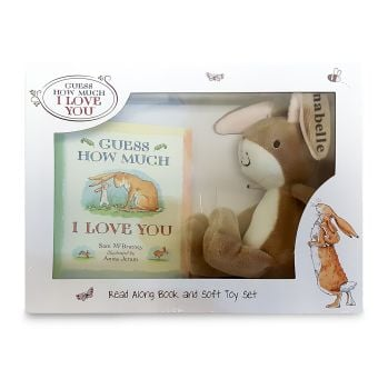 Personalised 'GUESS HOW MUCH I LOVE YOU' BOOK & TOY SET