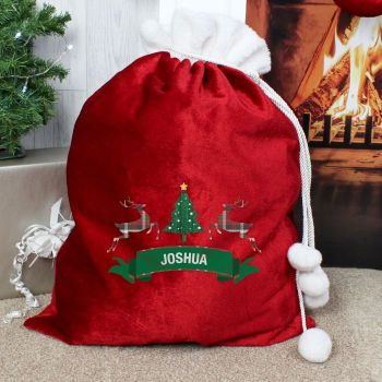 Personalised NORDIC LUXURY CHRISTMAS SACK Santa Sack for Xmas Eve