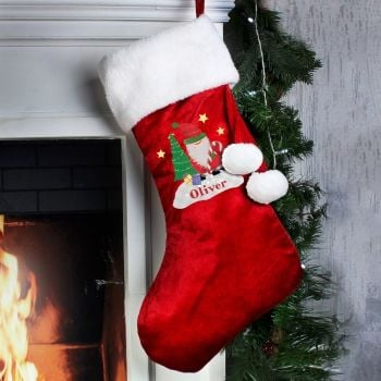 Personalised TARTAN SANTA STOCKING Santa Sack for Xmas Eve