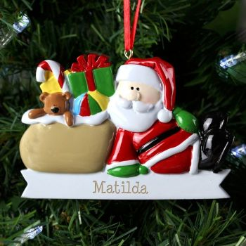 Personalised SANTA CLAUS Resin Christmas Tree Decoration