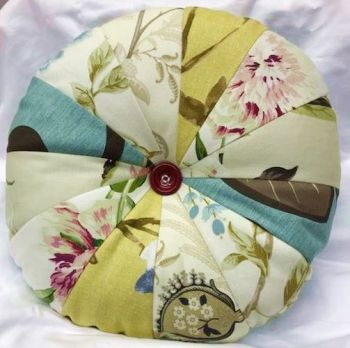 Handmade PATCHWORK CUSHION Pinwheel Cushion