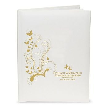 Personalised FOLD BUTTERFLY SWIRL Photo Album