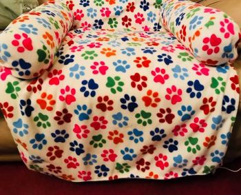 Handmade Solid Pattern  Dog / Puppy Fleece Snuggle Sofa Bed - Various Styles & Sizes