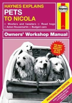Personalised HAYNES EXPLAINS OWNING PETS Book - Funny Ins & Outs of pet owning