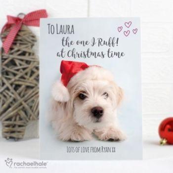 Personalised RACHAEL HALE CHRISTMAS CARD TERRIER