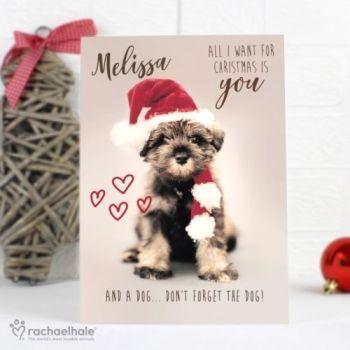 Personalised RACHAEL HALE CHRISTMAS CARD