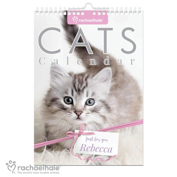 Personalised RACHAEL HALE CUTEST CATS CALENDAR A4 - Start on ANY Month