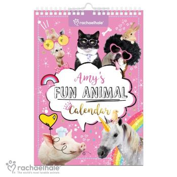 Personalised RACHAEL HALE FUNNY ANIMALS CALENDAR A4 - Start on ANY Month