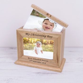 Personalised MY CHRISTENING DAY Wooden PHOTO ALBUM