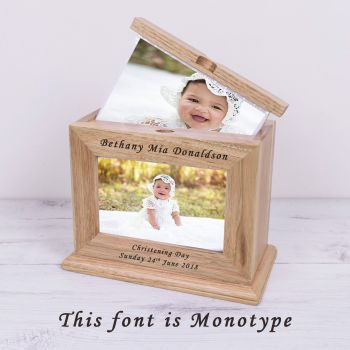 Personalised ANY MESSAGE Wooden PHOTO ALBUM
