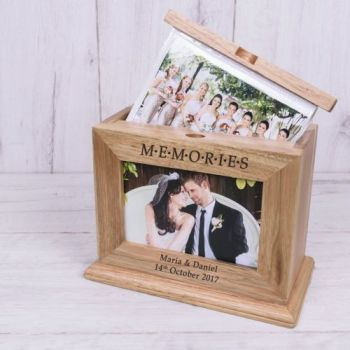 Personalised MEMORIES Wooden Photo Album