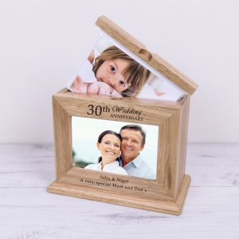 Personalised SPECIAL YEAR WEDDING ANNIVERSARY Wooden Photo Album