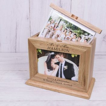 Personalised WEDDING Wooden Photo Album Mr & Mrs / Mr & Mr / Mrs & Mrs