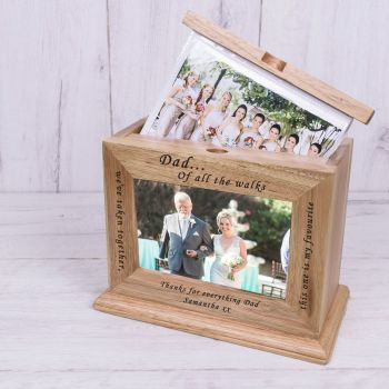 Personalised DAD OF ALL THE WALKS...Wooden Photo Album