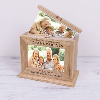 Personalised GRANDPARENTS Wooden PHOTO ALBUM