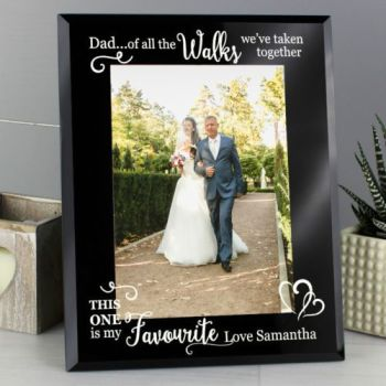 Personalised 7x5 Of all the Walks FATHER OF BRIDE Glass Photo Frame