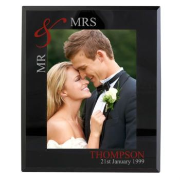 Personalised 7x5 RUBY COUPLE Photo Frame Mr&Mrs Mr&Mr Mrs&Mrs