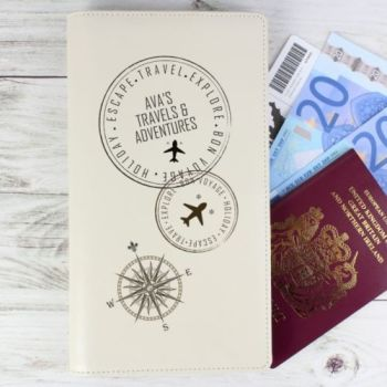 Personalised TRAVEL DOCUMENTS HOLDER Passport Passes Boarding card