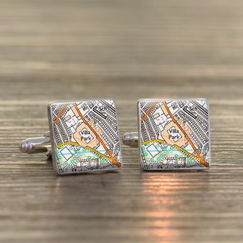 ASTON VILLA Football Ground Cufflinks - Villa Park