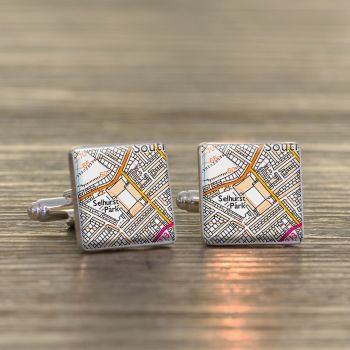 CRYSTAL PALACE Football Ground Cufflinks - Selhurst Park
