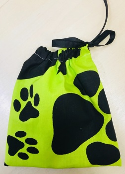 Handmade DOG TREATS BAG - Paw Prints