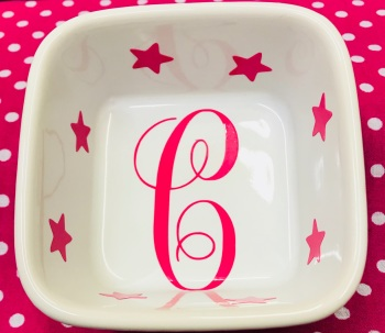 Personalised White INITIAL RING DISH Friend Wedding Engagement Anniversary Bridesmaid