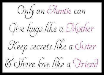 Only An Auntie Can... Printed Typography Quote