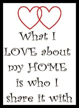 What I Love About My Home... Printed Typography Quote