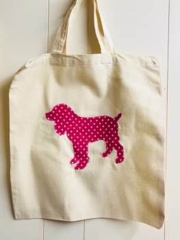 Breed/Animal Specific Handmade Cotton Shopping Bag - Most breeds available