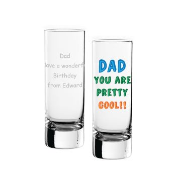 Personalised DAD YOU ARE... SHOT GLASS Dad Gift Father's Day Gift