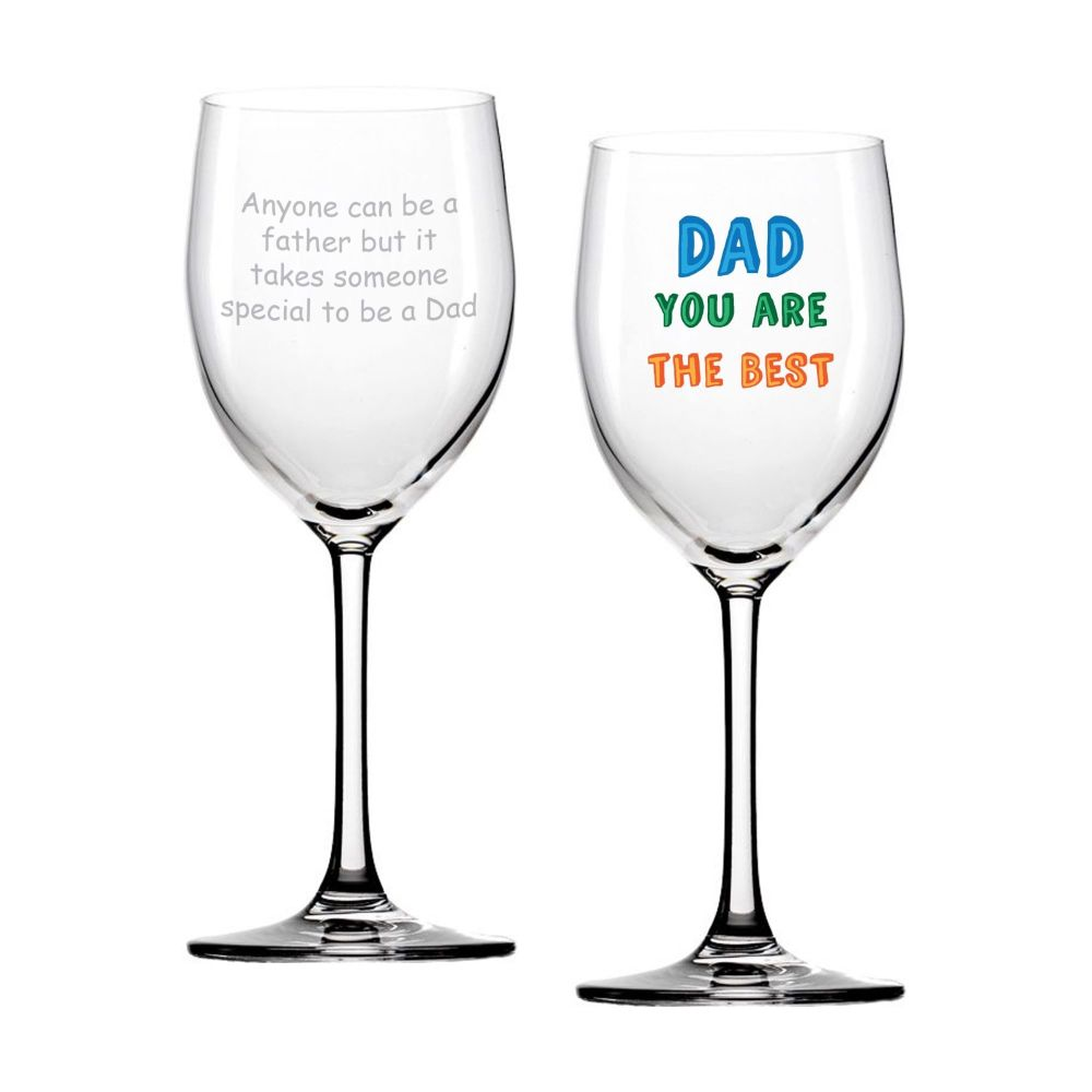 Personalised DAD YOU ARE... WINE GLASS Dad Gift Father's Day Gift