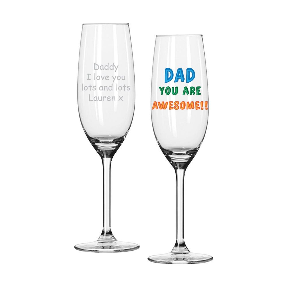 Personalised DAD YOU ARE... PROSECCO GLASS Dad Gift Father's Day Gift
