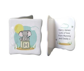 Personalised ELEPHANT SAFARI China Keepsake Message Card