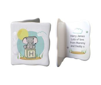 Personalised ELEPHANT SAFARI China Keepsake Message Card