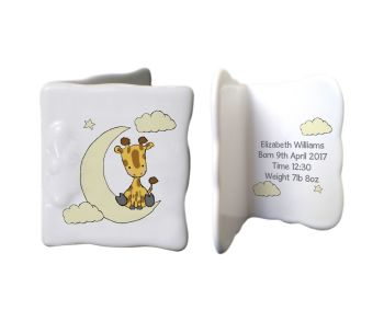 Personalised CUTE GIRAFFE China Keepsake Message Card