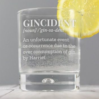 Personalised Gincident Tumbler Glass
