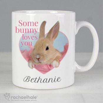 Personalised Rachael Hale Some Bunny Loves You Mug