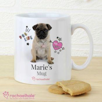 Personalised Rachael Hale Pug Mug