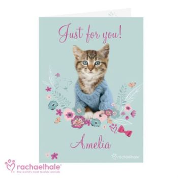 Personalised Rachael Hale Kitten Card