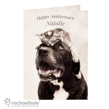 Personalised Rachael Hale Purrfect Pair Card