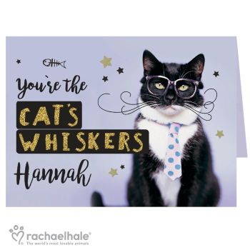 Personalised Rachael Hale The Cat's Whiskers Card
