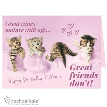 Personalised Rachael Hale Great Friends... Card