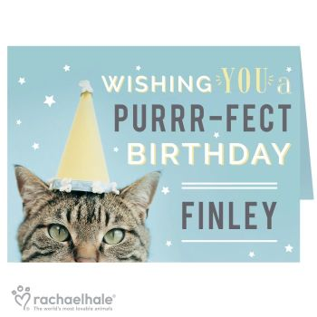 Personalised Rachael Hale Have A Purr-Fect Birthday Card