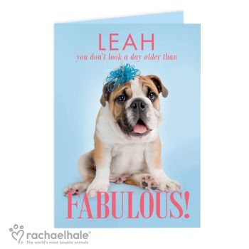 Personalised Rachael Hale Fabulous Card