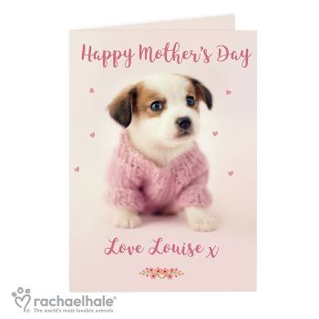 Personalised Rachael Hale Puppy Card