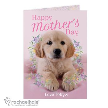 Personalised Rachael Hale Mother's Day Puppy Card