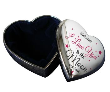 Personalised I Love You To The Moon & Back Trinket Box