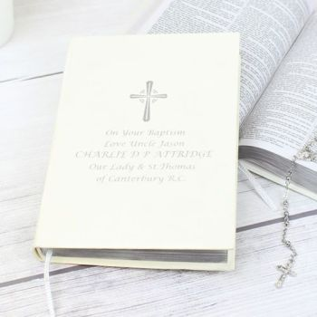 Personalised Silver Companion Holy Bible