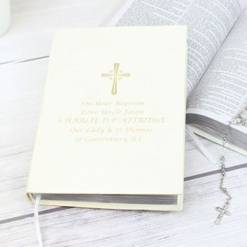 Personalised Gold Companion Holy Bible